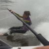blootvoeten Kids On Waterski